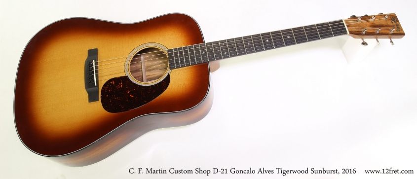 C. F. Martin Custom Shop D-21 Goncalo Alves Tigerwood Sunburst, 2016  Full Front View