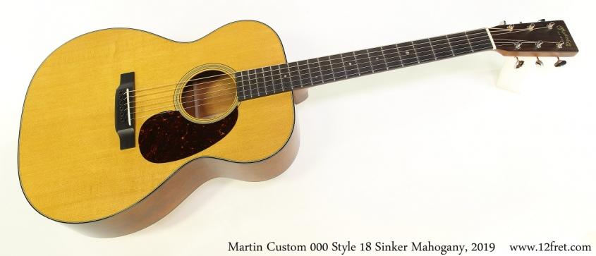 Martin Custom 000 Style 18 Sinker Mahogany, 2019 Full Front View