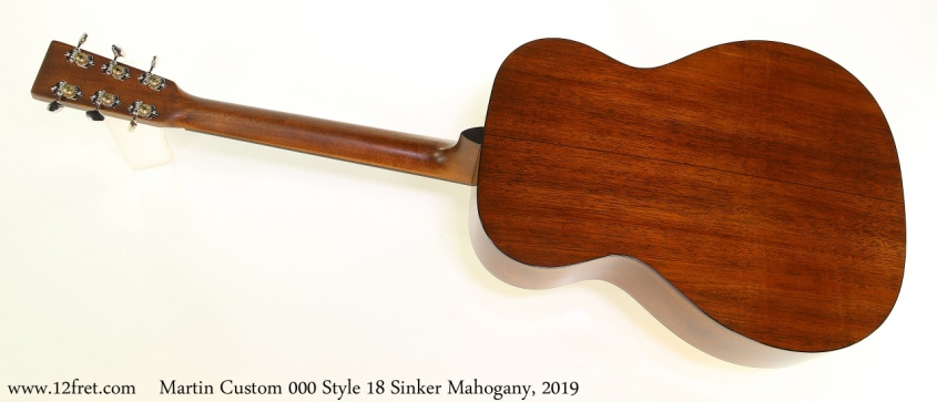 Martin Custom 000 Style 18 Sinker Mahogany, 2019 Full Rear View