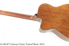 Martin 0014F Cutaway Guitar Toasted Burst, 2015 Full Rear View