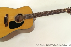 C. F. Martin D12-18 Twelve String Guitar, 1977  Full Front View