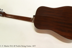 C. F. Martin D12-18 Twelve String Guitar, 1977  Full Rear View