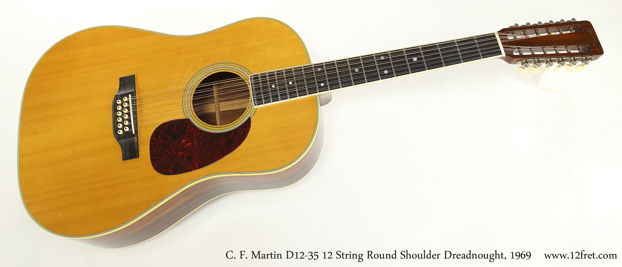 C. F. Martin D12-35 12 String Round Shoulder Dreadnought, 1969  Full Front View