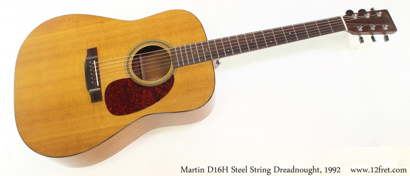 Martin D16H Steel String Dreadnought, 1992 Full Front View