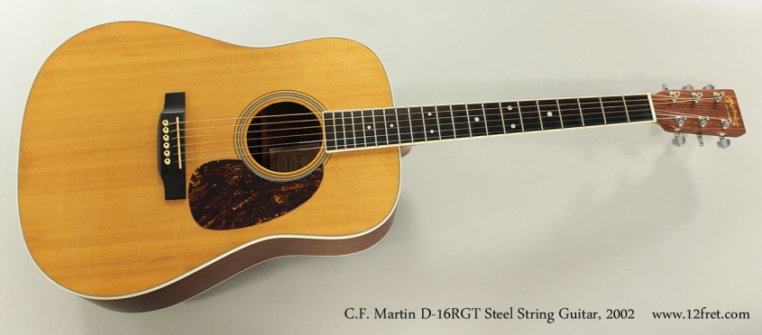 C.F. Martin D-16RGT Steel String Guitar, 2002 Full Front View