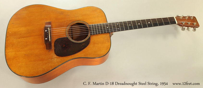 C. F. Martin D-18 Dreadnought Steel String, 1954 Full Front View