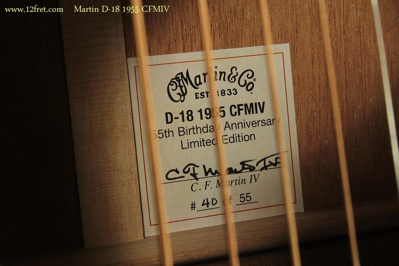 Martin D-18 1955 CFMIV label