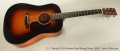 C. F. Martin D-18 Sunburst Steel String Guitar, 2015 Full Front View