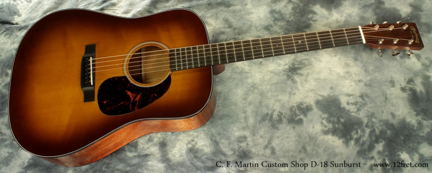 Martin Custom Shop D-18 Sunburst full lfront view