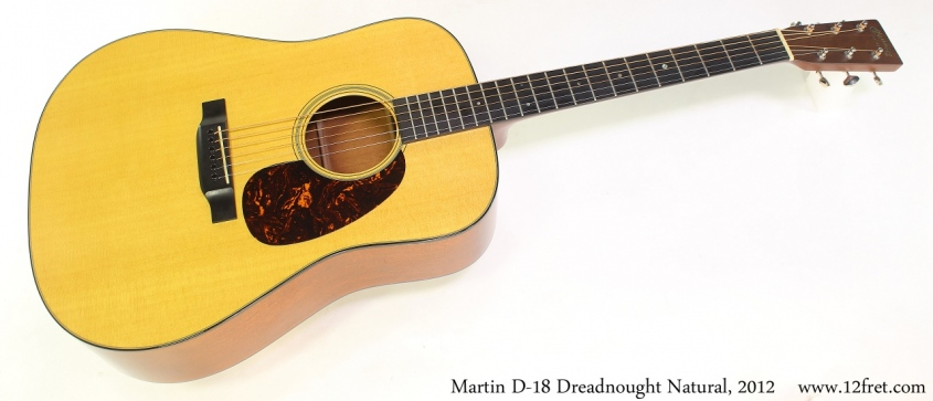 Martin D18 Dreadnought Natural, 2012 Full Front View