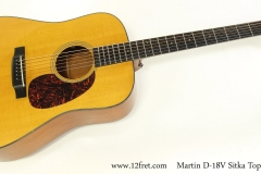 Martin D-18V Sitka Top Dreadnought, 2007     Full Front View