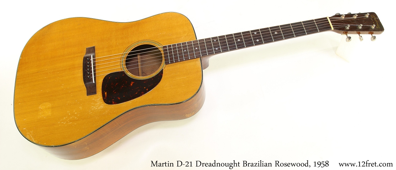 Martin D-21 Dreadnought Brazilian Rosewood, 1958 Full Front View