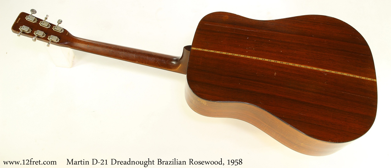 Martin D-21 Dreadnought Brazilian Rosewood, 1958 Full Rear View