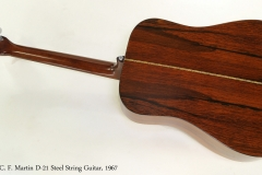 C. F. Martin D-21 Steel String Guitar, 1967 Full Rear View