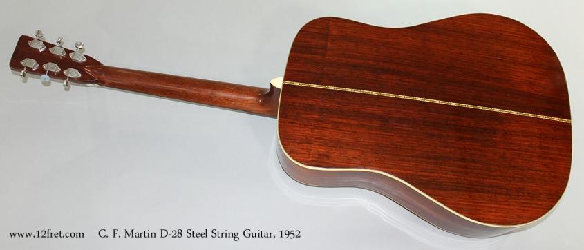 C. F. Martin D-28 Steel String Guitar, 1952 Full Rear View