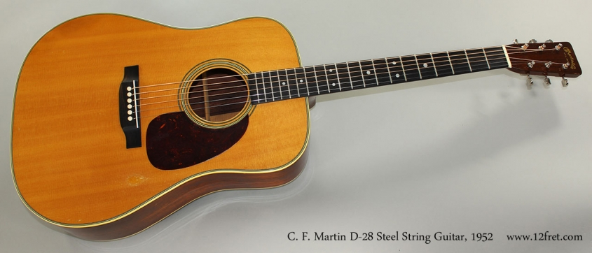 C. F. Martin D-28 Steel String Guitar, 1952 Full Front View