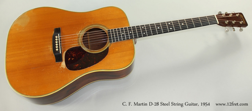 C. F. Martin D-28 Steel String Guitar, 1954 Full Front View