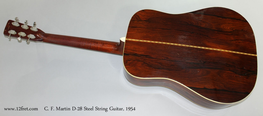 C. F. Martin D-28 Steel String Guitar, 1954 Full Rear View