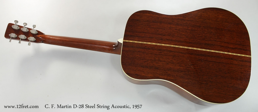 C. F. Martin D-28 Steel String Acoustic, 1957 Full Rear View