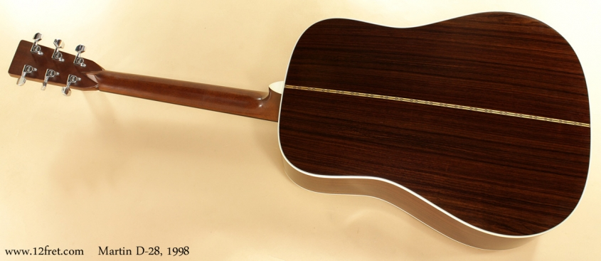 Martin D-28 1998 full rear view