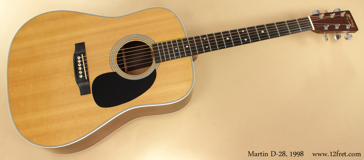 Martin D-28 1998 full front view