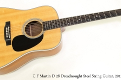 C F Martin D 28 Dreadnought Steel String Guitar, 2012    Full Front View