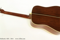 C. F. Martin D-28 Authentic 1937,  2014   Full Rear View