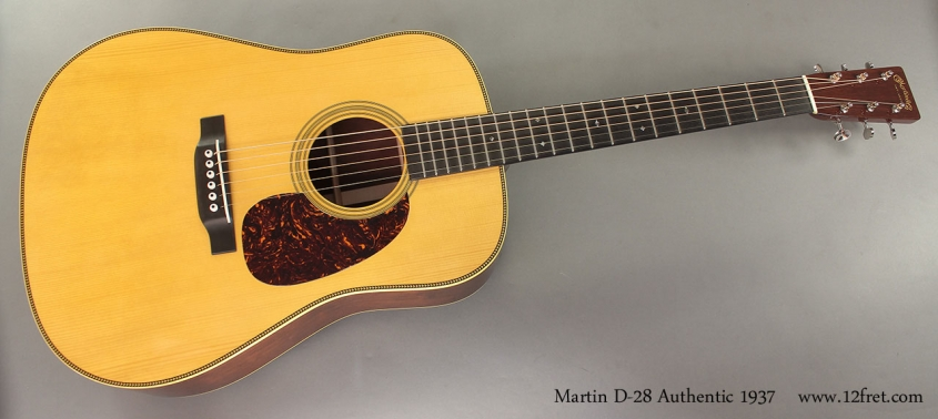 Martin D-28 Authentic 1937 full front view