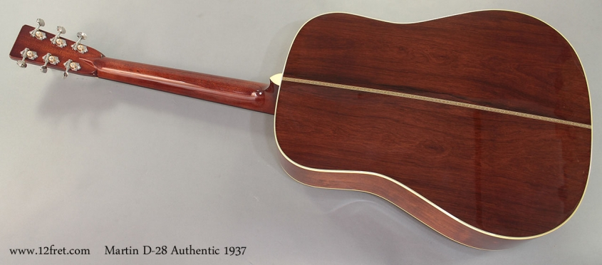 Martin D-28 Authentic 1937 full rear view