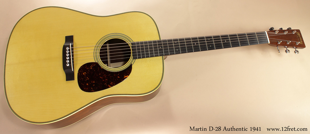 Martin D-28 Authentic 1941 full front view