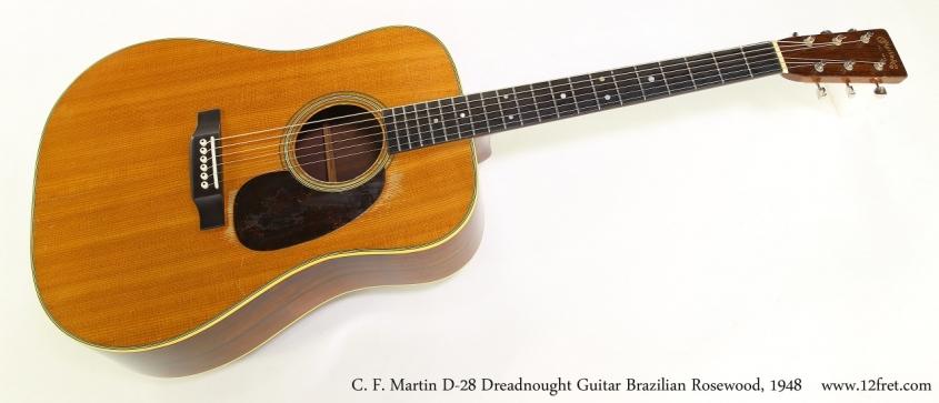 C. F. Martin D-28 Dreadnought Guitar Brazilian Rosewood, 1948   Full Front View