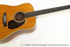 C. F. Martin D-28 Dreadnought Guitar Brazilian Rosewood, 1948   Full Front View