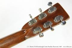 C. F. Martin D-28 Dreadnought Guitar Brazilian Rosewood, 1948   Head Rear View