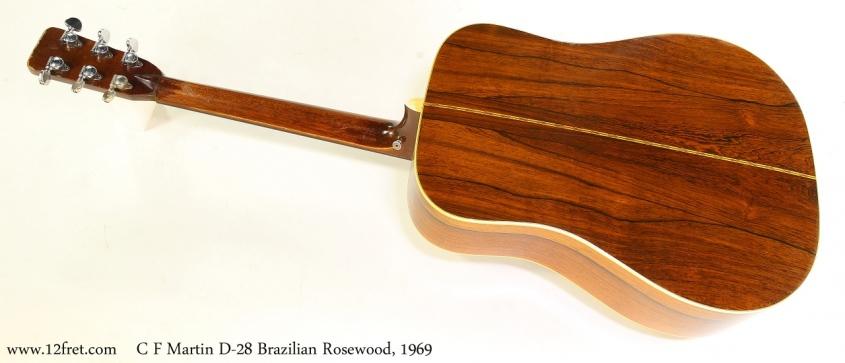 C F Martin D-28 Brazilian Rosewood, 1969 Full Rear View