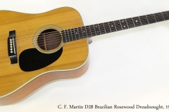 C. F. Martin D28 Brazilian Rosewood Dreadnought, 1969   Full Front View