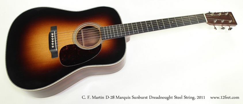 C. F. Martin D-28 Marquis Sunburst Dreadnought Steel String, 2011 Full Front View