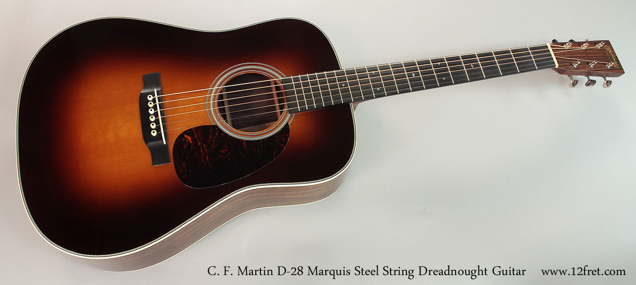 C. F. Martin D-28 Marquis Steel String Dreadnought Guitar Full Front View