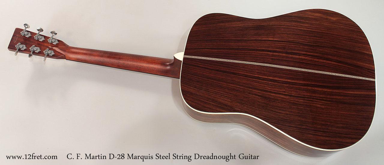 C. F. Martin D-28 Marquis Steel String Dreadnought Guitar Full Rear View