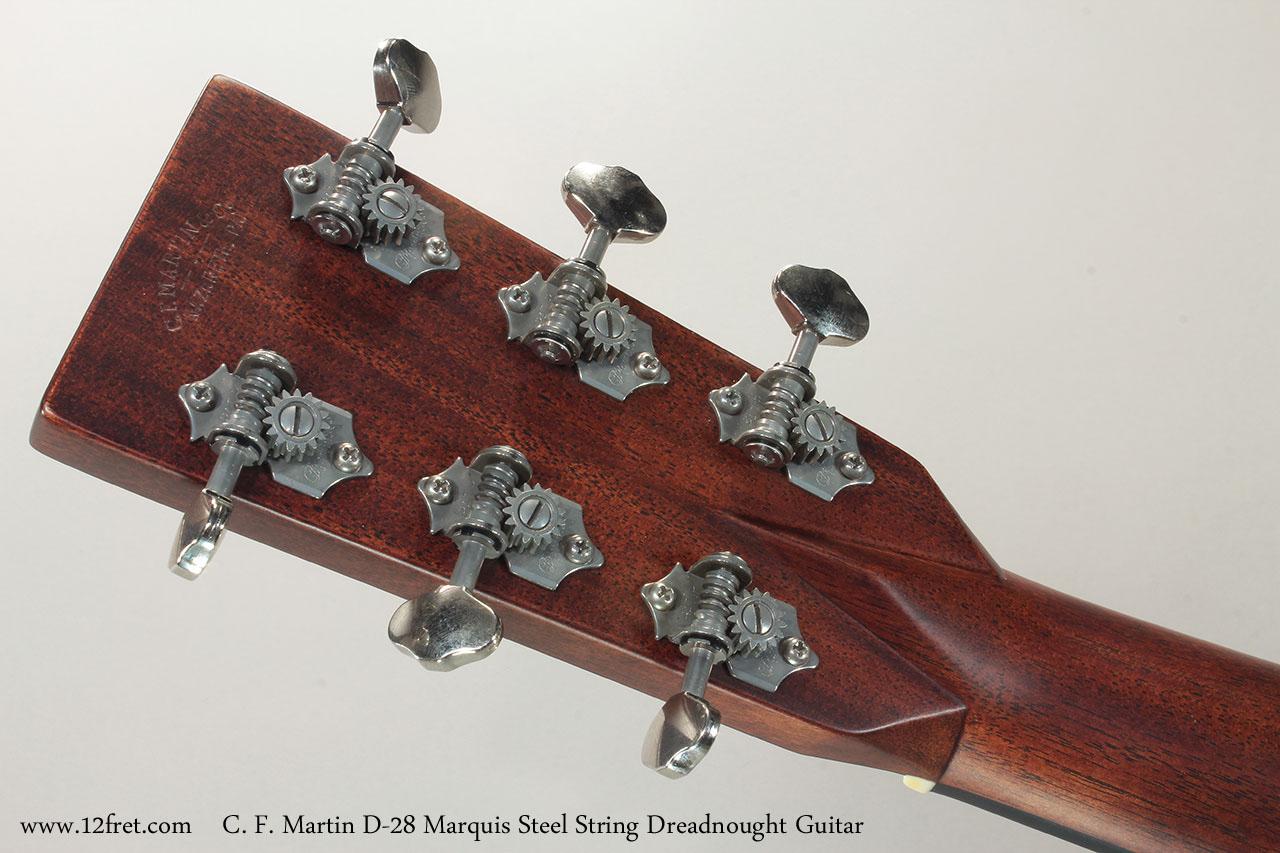C. F. Martin D-28 Marquis Steel String Dreadnought Guitar  Head Rear View