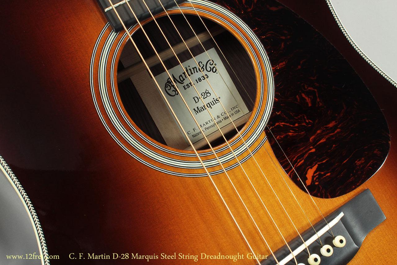 C. F. Martin D-28 Marquis Steel String Dreadnought Guitar  Label