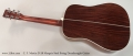 C. F. Martin D-28 Marquis Steel String Dreadnought Guitar  Full Rear View