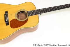 C F Martin D28V Brazilian Rosewood, 1984 Full Front View