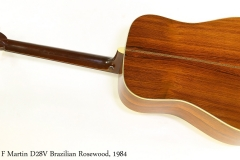 C F Martin D28V Brazilian Rosewood, 1984 Full Rear View