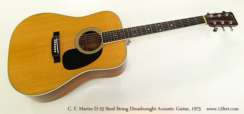 C. F. Martin D-35 Steel String Dreadnought Acoustic Guitar, 1975 Full Front View