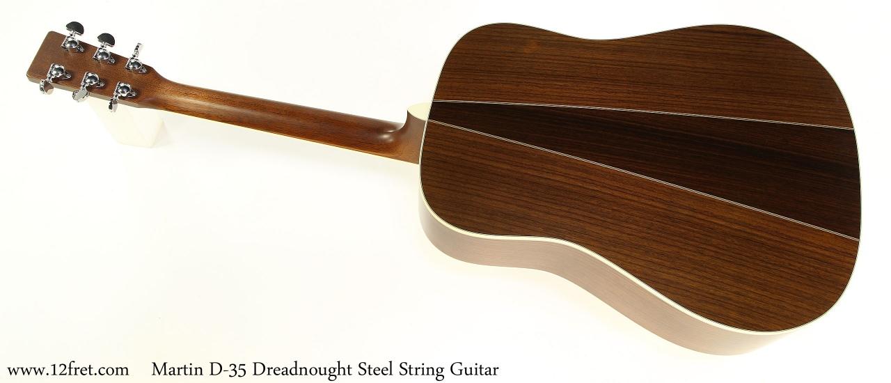 Martin D-35 Dreadnought Steel String Guitar Full Rear View