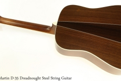Martin D-35 Dreadnought Steel String Guitar Full Rear View