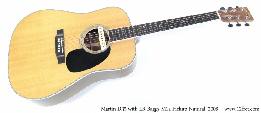 Martin D35 with LR Baggs M1a Pickup Natural, 2008 Full Front View