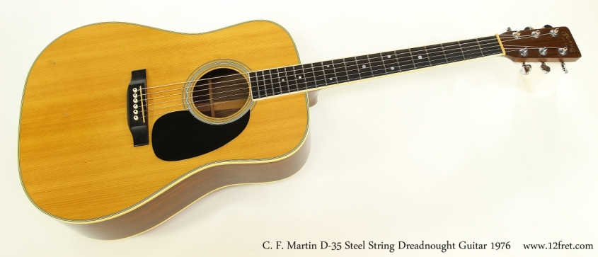 C. F. Martin D-35 Steel String Dreadnought Guitar 1976   Full Front View