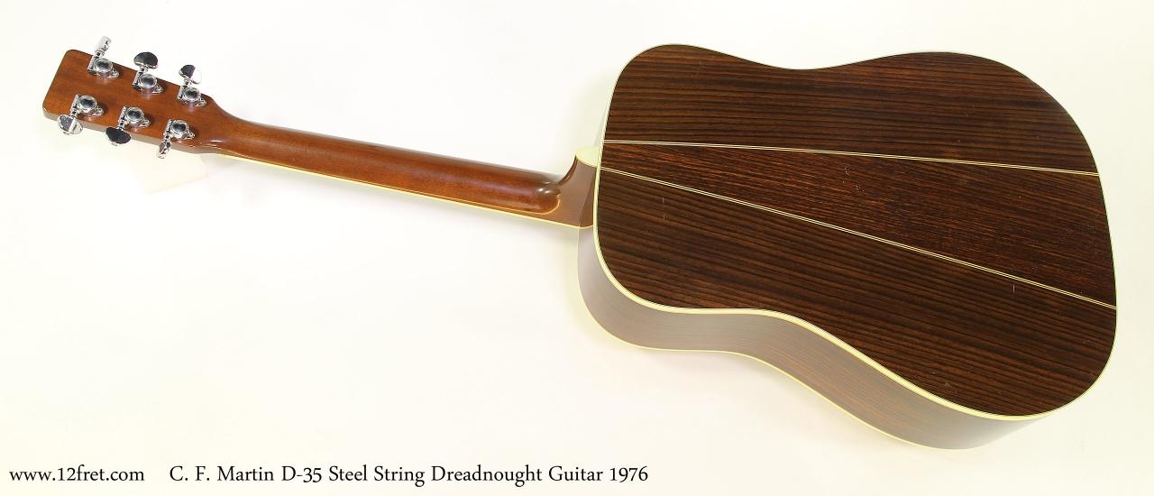 C. F. Martin D-35 Steel String Dreadnought Guitar 1976   Full Rear View