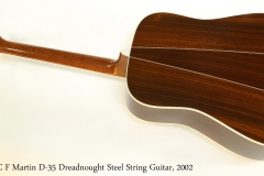 C F Martin D-35 Dreadnought Steel String Guitar, 2002    Full Rear View